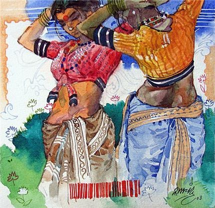Nice colors Indian Contemporary Art