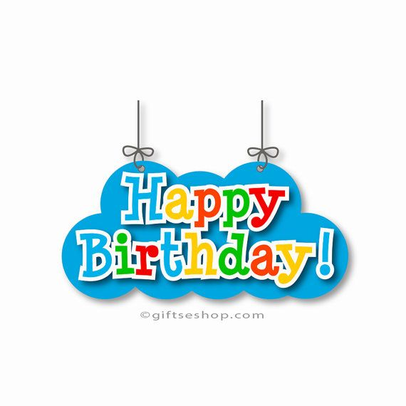 Happy birthday pictures- happy birthday clip art, happy birthday graphics. Printable. Instant Digital Download.  Include One PNG Format: 300dpi - transparent background. 1(one) PDF file with vector image. - Once your payment is complete you will receive an email from Etsy with a link to download your files. Also your download will be available via your account- your Etsy purchases.  Please note you will not receive any printed products or any products in the mail.  Files come in zip format…