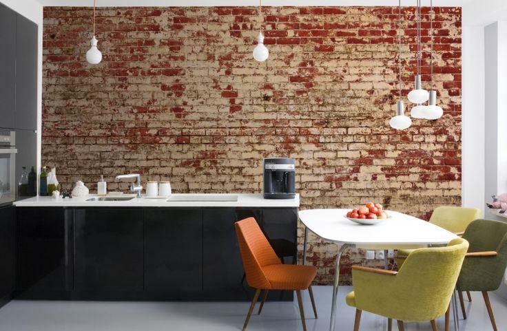 Weathered Red Brick Wallpaper Wall Mural | MuralsWallpaper.co.uk
