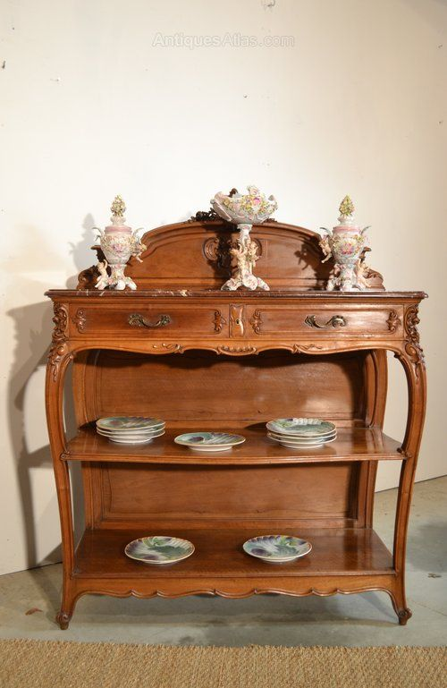 ~ Dining Suite in Walnut Rocaille Style 19th Century ~ antiques-atlas.com