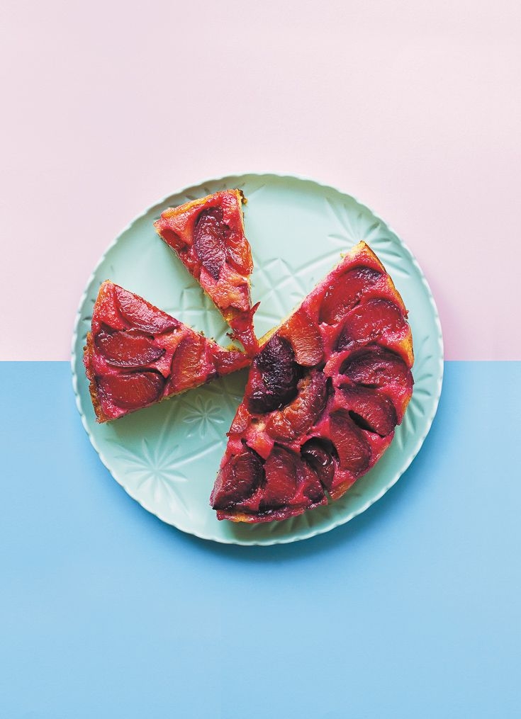 Upside-Down Plum Cake featured in Lunch Lady Issue One. Lunch Lady Magazine available at http://shop.hellolunchlady.com.au/