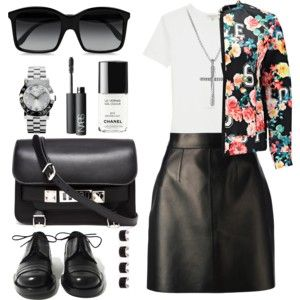 B&W and a floral touch