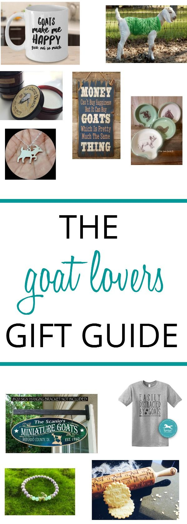 Find my go to list of goat lovers gift ideas that any goat love will treasure. Fun, quirky and even practical and all are handmade quality gifts! 2017gift guide via @SLcountrygal
