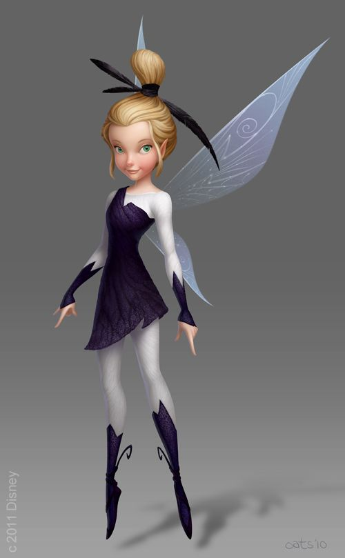 Visual Development Painting of 'Glimmer' from Disney's 'Pixie Hollow Games' by Chris Oatley. Character Design by Ritsuko Notani. Art Direction by Fred Warter.