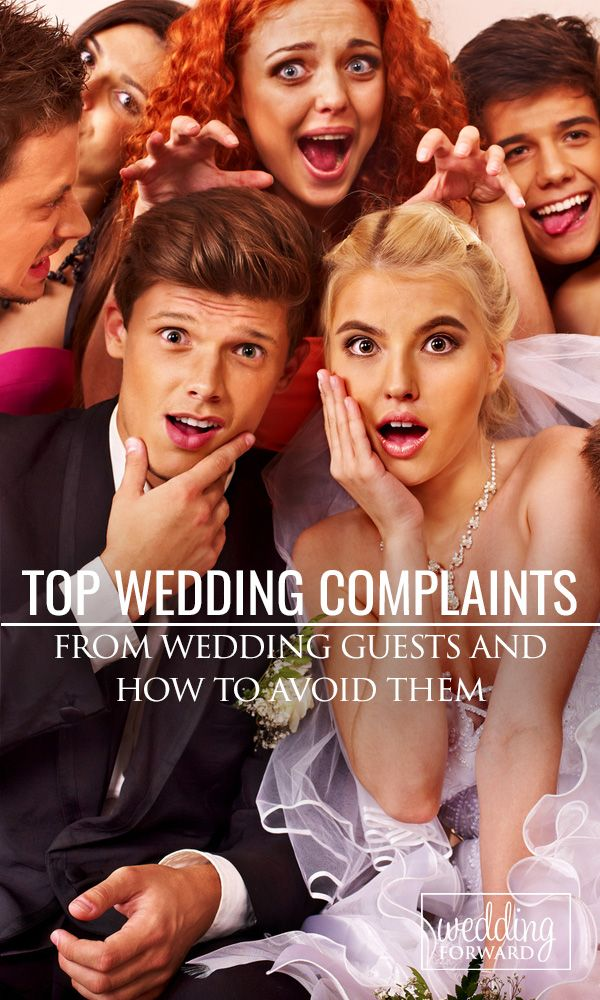 Top Wedding Guest Complaints & How To Avoid Them ❤ You must be prepared for #wedding guest complaints and have a few strategies for heading them off at the pass. Read on to find out how to avoid the most common wedding guest complaints. See more: http://www.weddingforward.com/top-wedding-guest-complaints-avoid/ #weddingplanning #brides