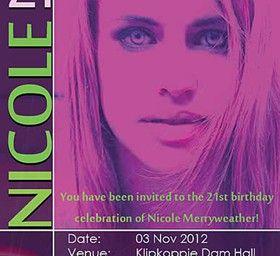INVITATION DESIGN - 21st Birthday Party Invitation
