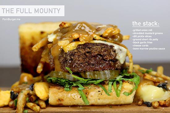 The Full Monty Burger: Food, Full Monty, Burgers, Marrow Poutine, Pornburger Thefullmounty, Short Ribs, Full Mounty, Bone Marrow