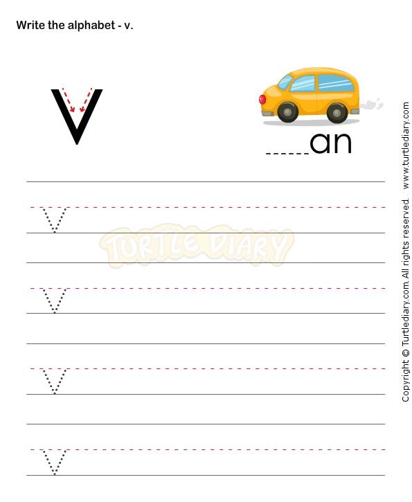 small letters v esl efl worksheets kindergarten worksheets alphabet worksheets alphabet. Black Bedroom Furniture Sets. Home Design Ideas