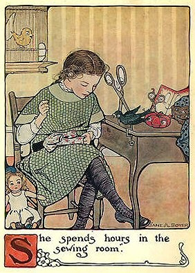 I found the 'Mary Frances Sewing Book - Adventures Among the Thimble People' (1913) free online. How fun to share with the young people in your life ♥