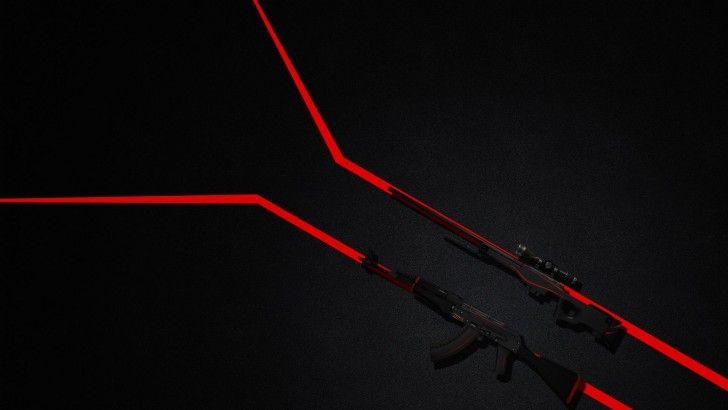 Download AK 47 and AWP Redline CSGO Wallpaper 1920x1080