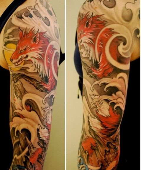 Japanese Wind Tattoo: There Is Something Compelling About This Sleeve. I Love