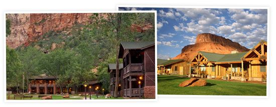 Zion Lodge and the Sorrel River Ranch