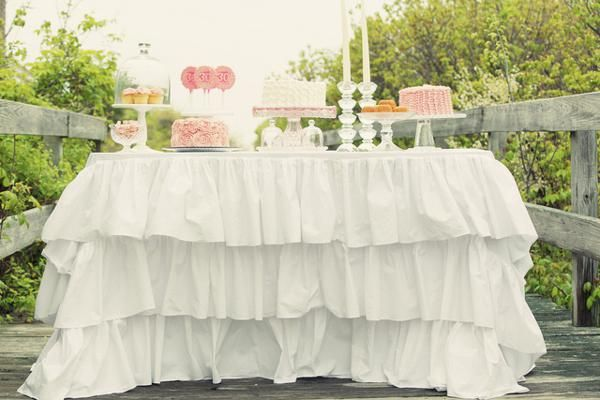 Shabby + romantic pink 30th birthday party celebration found via www.KarasPartyIdeas.com