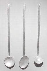 Spoons by Silversmith Simone ten Hompel. via Belinda