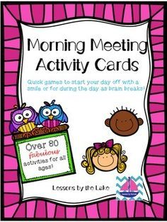 Morning Meeting is part of the wonderful Responsive Classroom management system but can be used in any classroom! This system builds a strong, loving classroom environment. Use these activities to start the day off on a great note or during the day as a brain break!