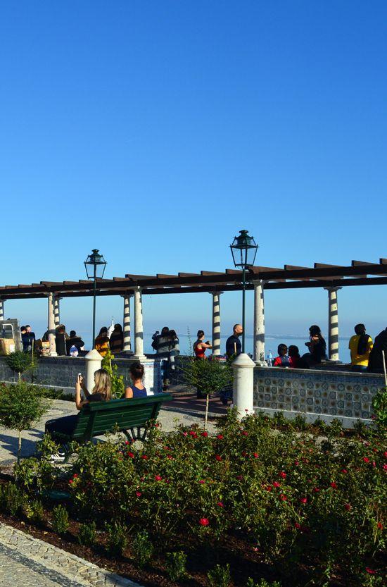 Santa Luzia Viewpoint. Alfama - Lisbon.