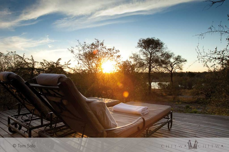 Relaxation as the sun sets in the distance | The Charlsy Suite