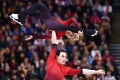Aliona Savchenko and Bruno Massot of Germany skate in the Pairs Free Skate on Day 6 of the ISU World Figure Skating Championships 2016 at TD Garden...