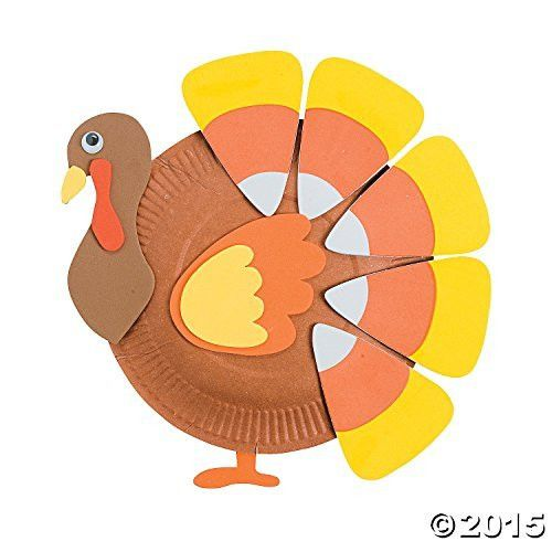 Oriental Trading Paper Plate Candy Corn Turkey Craft Kit