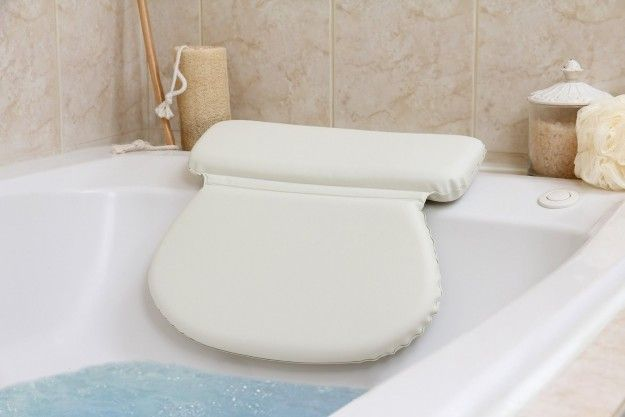 A waterproof pillow for the bathtub so that you don't have to strain your neck or back while you're trying to relax.