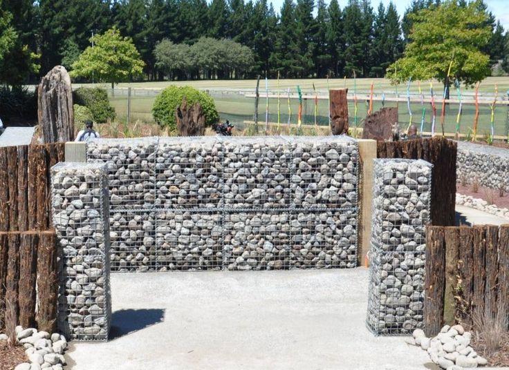 gabion fence entry to public garden httpwwwgabion1comau