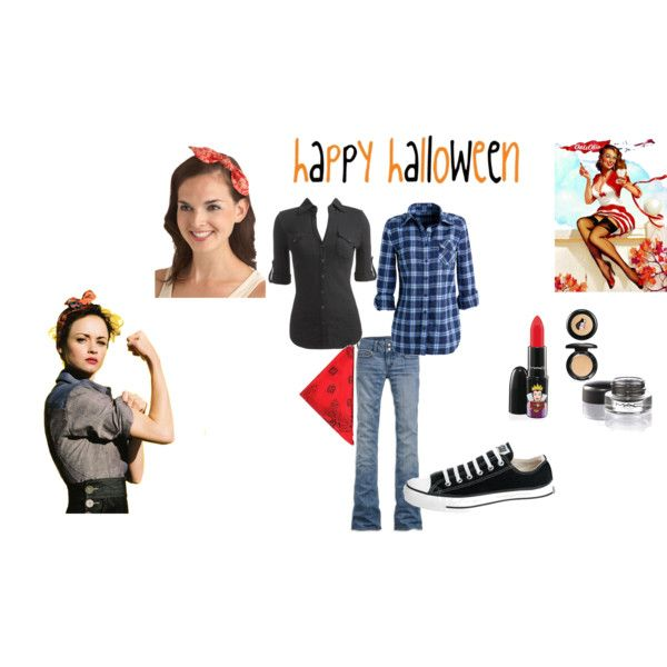 rosie the riveter halloween costume by leynabeez on polyvore - Rosie The Riveter Halloween Costume