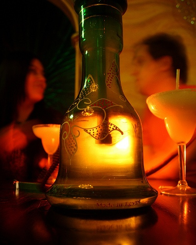 Lights down low, drinks, and hookah is a great way to end the night! #Hookah #Drinks #Relaxing