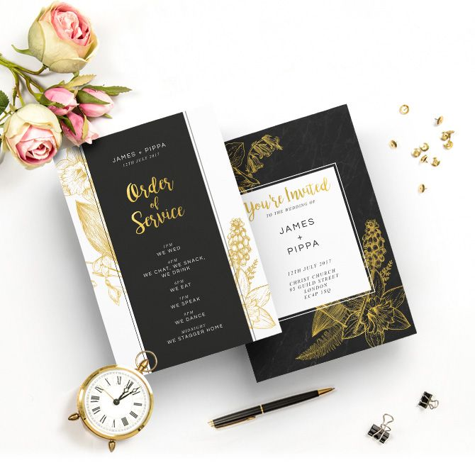 Need some inspiration for your wedding?  We've got #PippaMiddleton templates, from Invites to Order of Services! #orderofservice #wedding #printing #stationery #weddingstationery