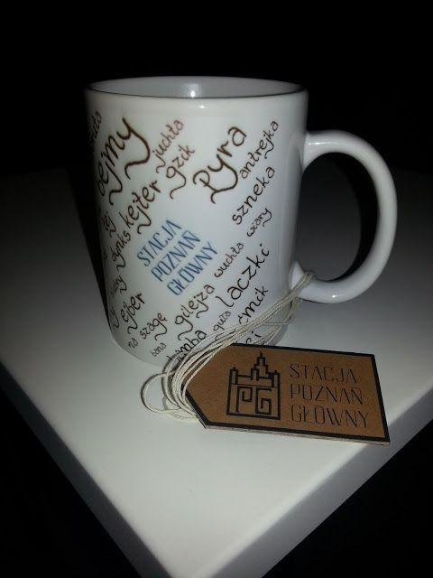 Amateur product design by Stacja Poznań Główny  Poznań dialect mug!