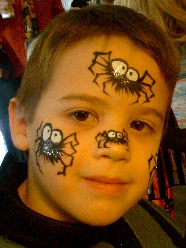 fuzzy spider face paint
