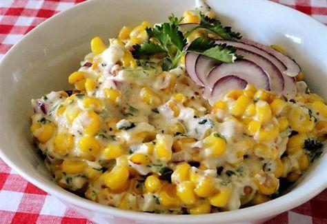 Mexikói kukoricasaláta recept képpel. Hozzávalók és az elkészítés részletes leírása. A mexikói kukoricasaláta elkészítési ideje: 15 perc