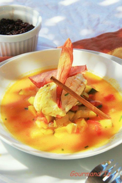 Lotte curcuma citronnelle nage de poisson nage de - Cuisiner poisson blanc ...