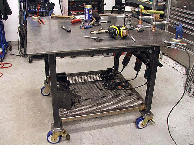 Miller welding projects idea gallery welding table for Simple workshop table