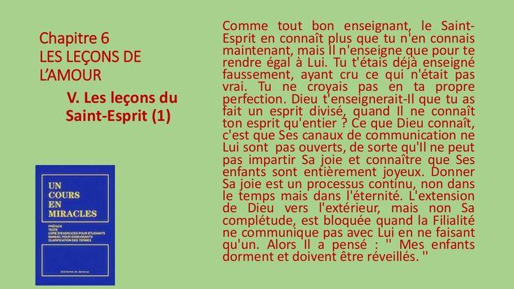 V. Les leçons du Saint-Esprit - A. by Pierrot Caron via slideshare