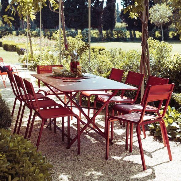 Salon De Jardin Fermob Oleron 8 Pers Piment Muscade Salon De Jardin Fermob Salon De Jardin Table De Jardin