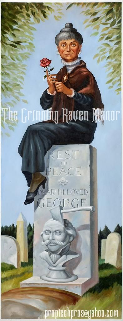 "My Reproduction of The Haunted Mansion's ""Dear Beloved George"" Stretching portrait. Oil On Canvas. Art By ""The Grinning Raven."""