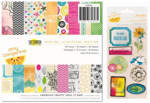 Enter to win American Crafts + Crate Paper {July 20-25} on the Create: blog!Crafts Paper, Tangerine Sketchbooks, Tans Sketchbooks, Paper Pack, Paper Pads, Amy Tangerine, 6X6, Crafts Supplies, American Crafts