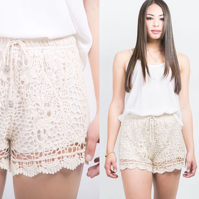 """☪Boutique La Lune☪ Add Our """"Sunkissed Lace Shorts"""" to the top of your MUST HAVE list for those Sunny Days ahead of us!! #lalune #summer #lookbook #lace #fashion #onlineshopping #musthave #fashiondiaries #love #shorts #lotd"""