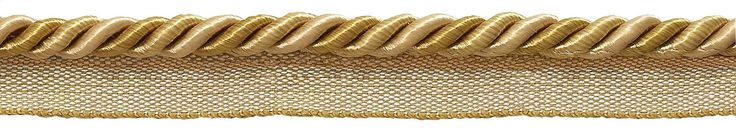 """10 Yard Value Pack Medium Two Tone Gold Baroque Collection 5/16"""" Cord with Lip Style# 0516BL Color: GOLD MEDLEY - 8633 (30 Ft / 9 Meters)"""
