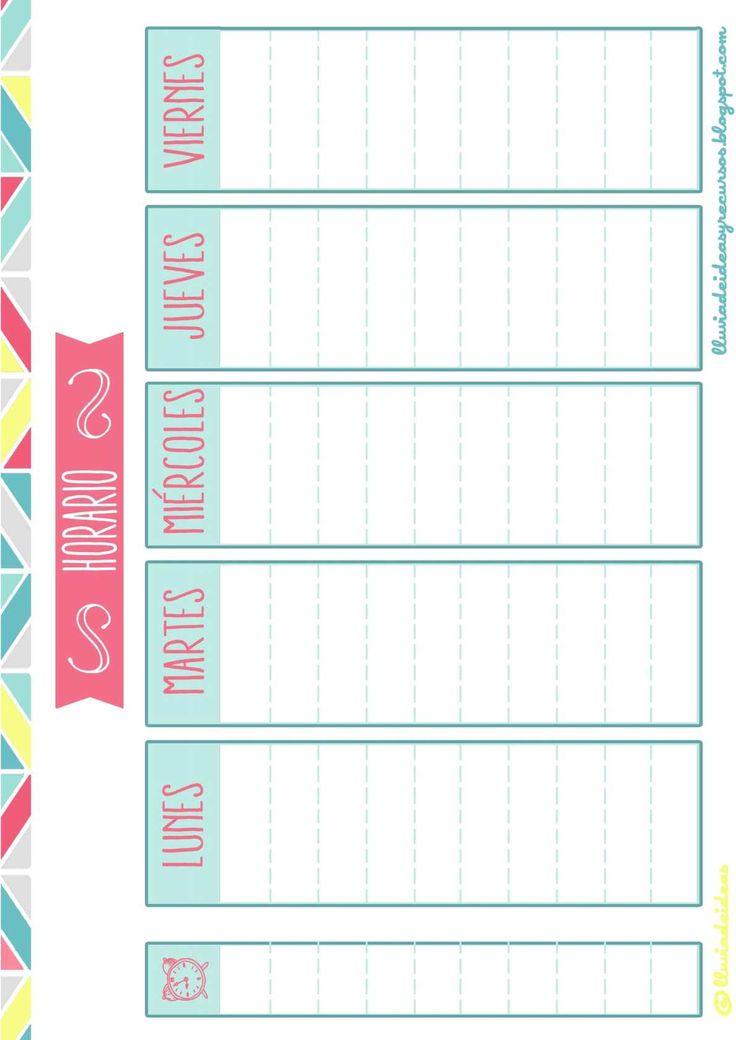 """El pack descargable para """"Organizar el curso escolar"""" se presenta en formato PDF y está compuesto de diferentes documentos para organizar el curso escolar de forma anual y mensual y muchos horarios para apuntar todas las actividades..."""