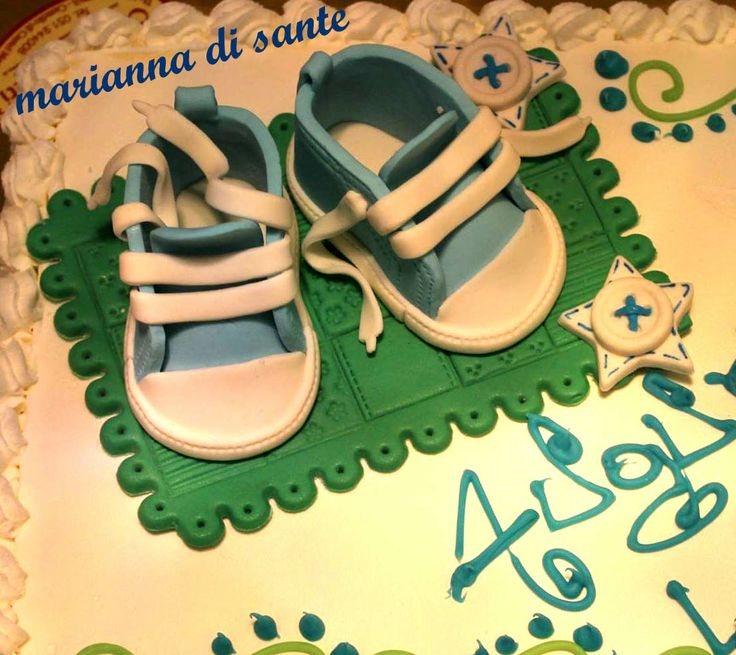 mini all-stars converse cake topper,for a baby