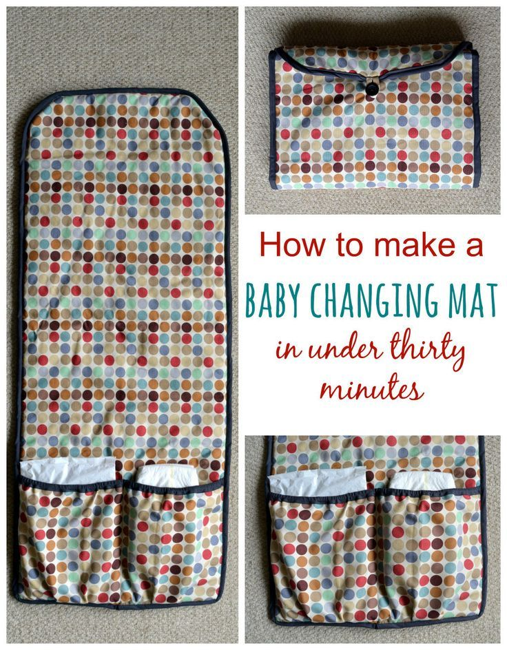 Need a thrifty baby gift in a rush? Sew up a baby changing mat in thirty minutes. Step by step tutorial. This is a great gift for any expectant mother.