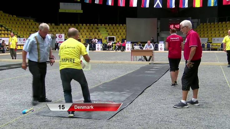 European Championship 2016 Women petanque Qualification of Precision sho...