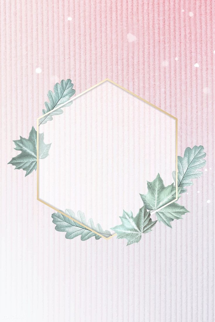 Download Premium Vector Of Green Leafy Hexagon Gold Frame 935615