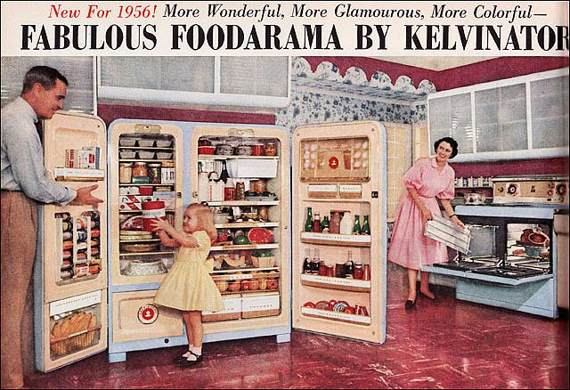 1956 Foodarama by Kelvinator    What goes around, comes around. This style been around a lot longer than we thought !