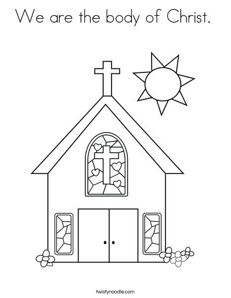 We are the body of Christ Coloring Page Twisty Noodle