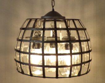 Tarro de masón luminaria nueva pinta 5-luz por LampGoods en Etsy