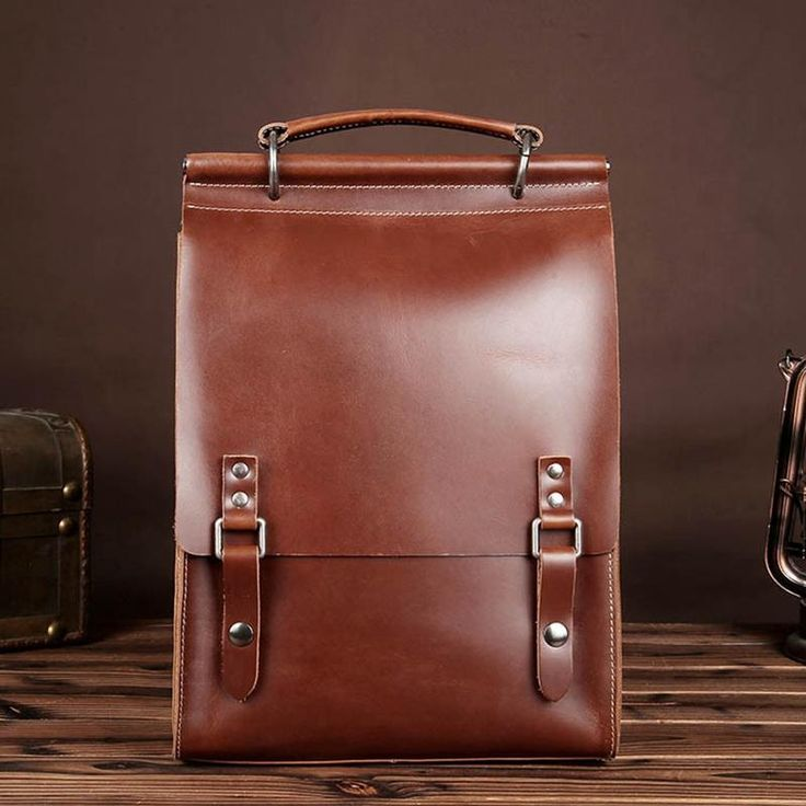 Genuine Leather Neutral Backpack