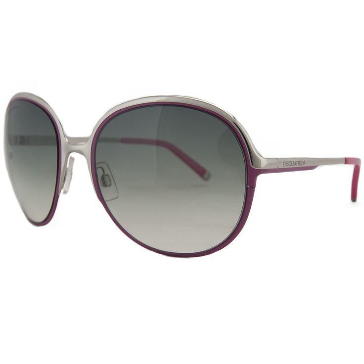 DSquared DQ 0011 20B Silver/Pink Round Full Rim Sunglasses