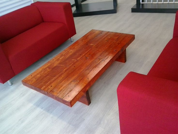 Simple but outstanding coffee table. Made from reclaimed timber from Heart Eco. Darryn 073 205 6665